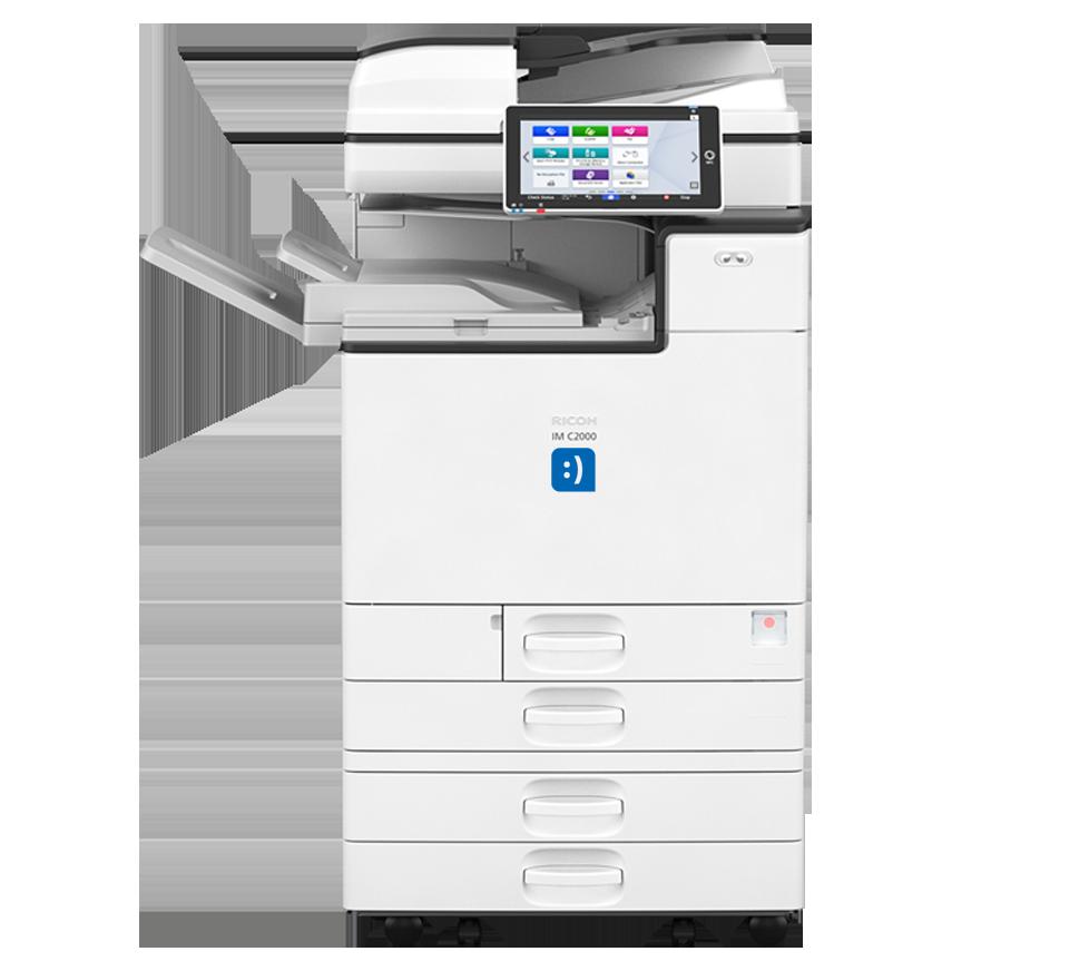 photocopieur ricoh imc2000 avec logo novoffice